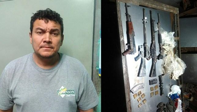Capturan en San Salvador a sujeto que escondía armamento de pandilleros en su taller