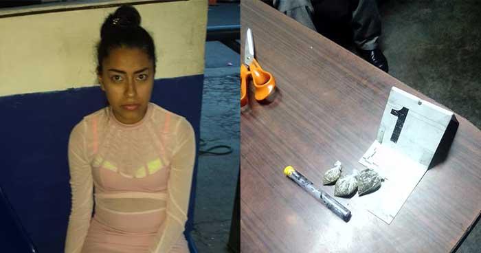 Atrapan a joven que pretendía ingresar droga en bartolinas de la PNC en Mejicanos