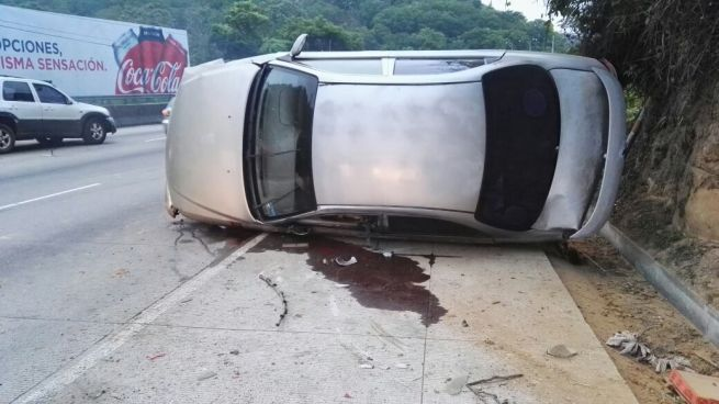 Accidente de transito en la carretera Chorros esta mañana