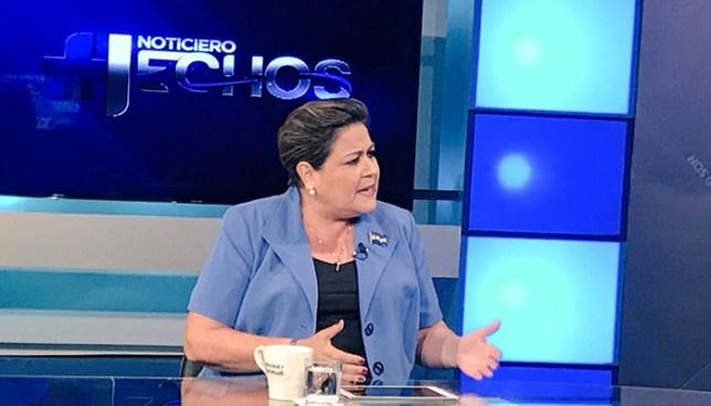 Margarita Escobar no descarta que presidencia de la Asamblea Legislativa sea dividida