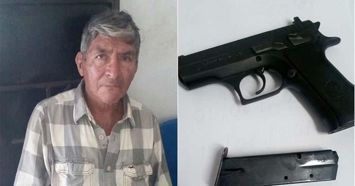 Capturan en Ahuachapán a anciano por conducción temeraria y portación ilegal de arma de fuego
