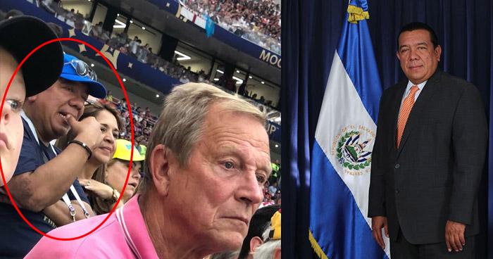 Circula fotografía donde aparece el diputado de GANA, Mario Tenorio, disfrutando de la final del Mundial Rusia 2018