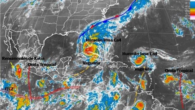 Chubascos y tormentas moderadas fuertes por influencia de circulaciones ciclónicas