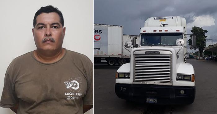 Capturan en La Hachadura a camionero que pretendía sacar del país a una joven