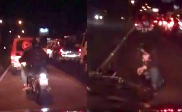Captan a motociclista en estado de ebriedad conduciendo en el carril del Sitramss