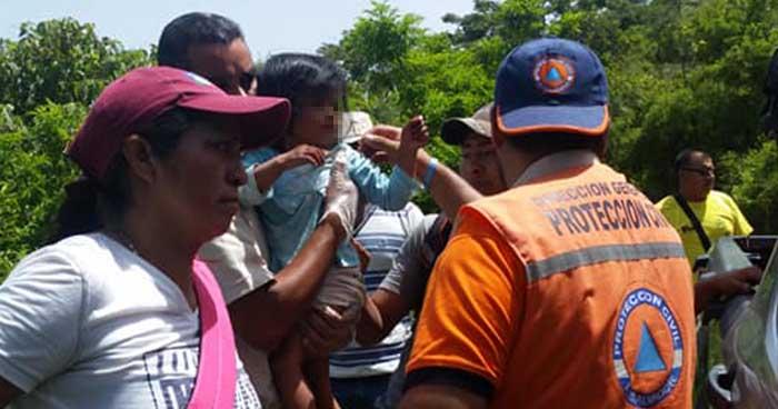 Localizan a niña de tres años que se extravió en la zona del volcán Tecapa en Usulután