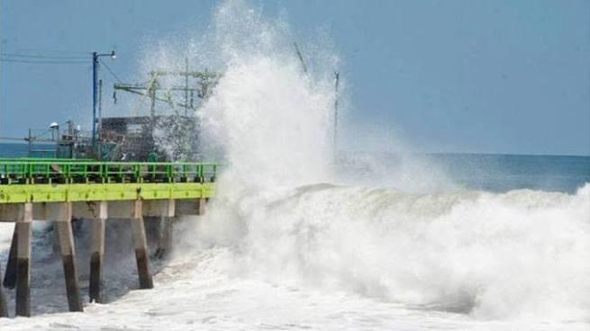 Para los próximos días se espera oleaje más rápido y alto en la zona costera
