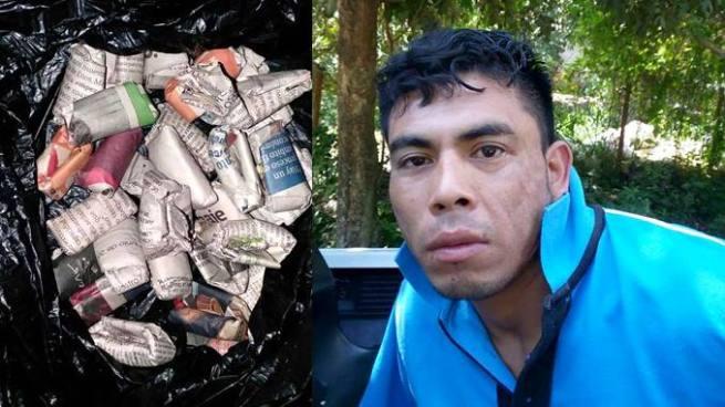 Pandillero con 30 porciones de marihuana fue detenido en Olocuilta, La Paz