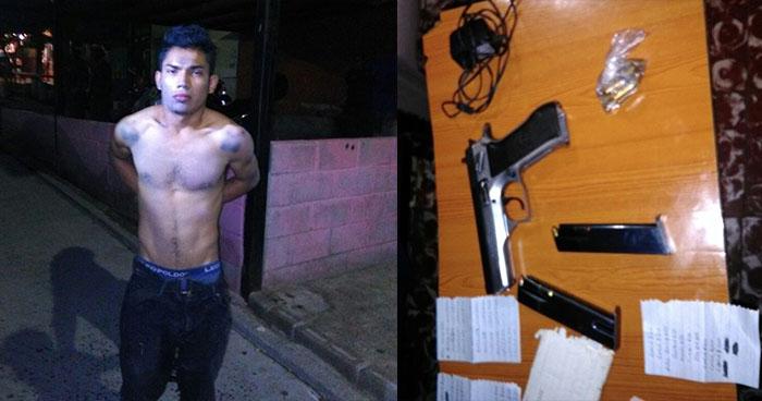 Capturan armado a peligroso pandillero en la colonia La Campanera de Soyapango