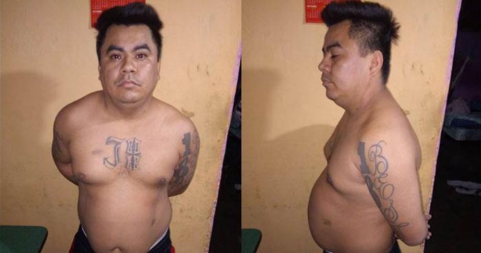 Cabecilla de la 18 capturado por su participación en la Masacre de 11 trabajadores en San Juan Opico