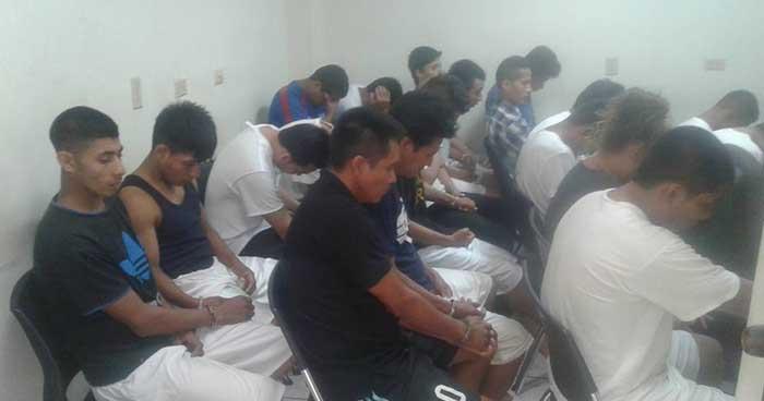 Envían a prisión a más de una treintena de pandilleros que operaban en el occidente del país