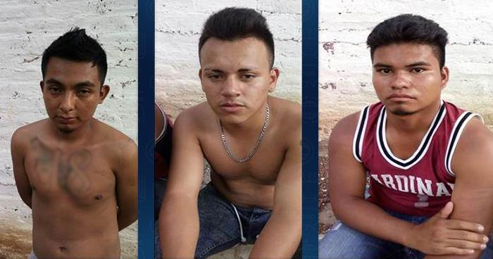 Atrapan a tres pandilleros que planeaban ilícitos en El Refugio, Ahuachapán