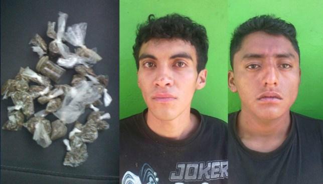 Policía detiene a pandilleros que portaba varias porciones de droga en San Salvador