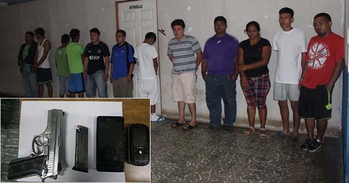 Capturan a miembros de la pandilla 18 que operaban en el departamento de La Paz