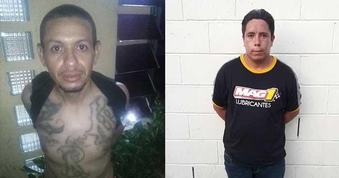 Capturan en Mejicanos a sujetos acusados por extorsión y posesión de droga