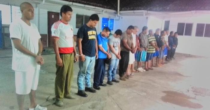 Capturan a 16 pandilleros que operaban en diversos puntos de San Vicente