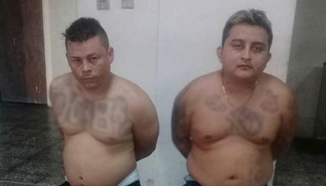 Policía atrapa a dos pandilleros que portaban un arma de fuego de manera ilegal