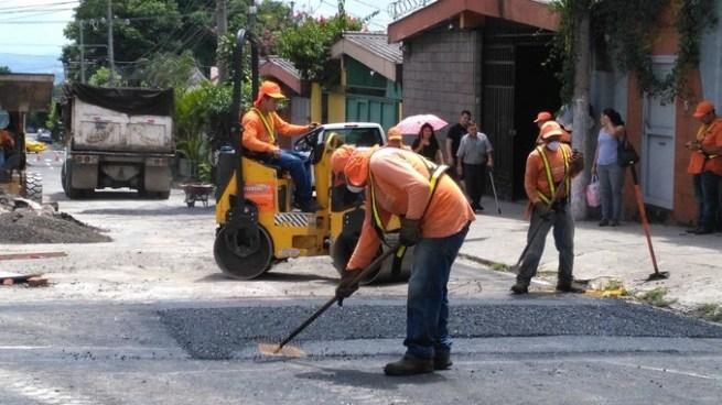 Mañana se habilitara el paso de la calle San Antonio Abad donde se formó la cárcava