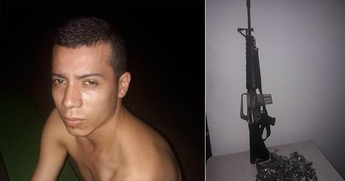Cae en La Libertad peligroso pandillero que portaba un arma de guerra y droga