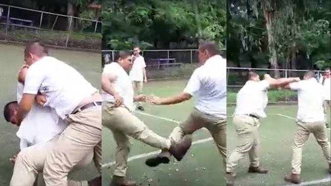 Difunden vídeo de la pelea de estudiantes dentro de un instituto de Sonsonate