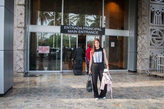Carolina Padrón ya se encuentra en El Salvador