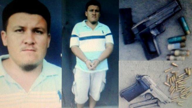 Capturan en Chalatenango a marero que tenia dos armas de fuego en su poder