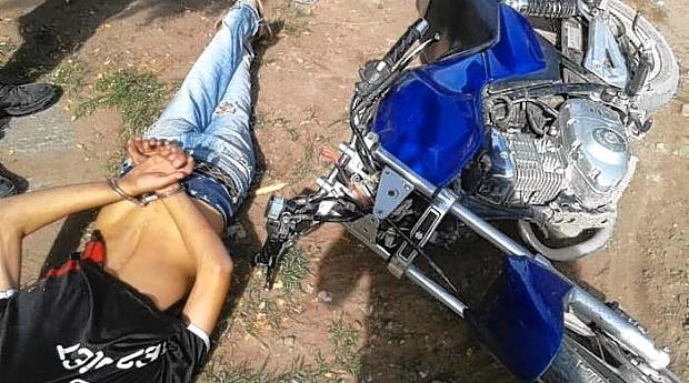 Capturan a menor de edad por receptación de motocicleta en Ciudad Delgado