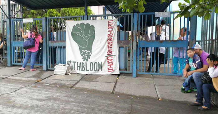 Sindicalistas reducen labores en el Hospital de niños Benjamín Bloom