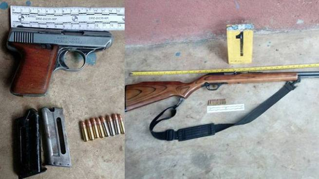 Capturan a salvadoreño con pistola y rifle en Guatemala