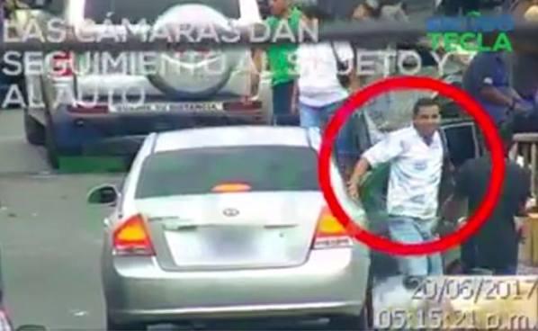 Se difunde vídeo de una captura tras una persecución ocurrida en Santa Tecla