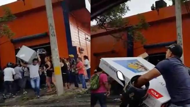 Ciudadanos hondureños destruyen y saquean almacenes de electrodomésticos
