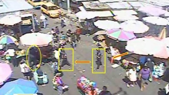 Revelan secuencia de como un vigilante asesina a un vendedor en el centro capitalino
