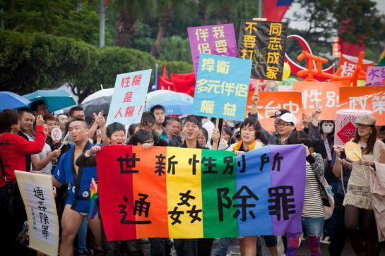 Taiwan a la espera de la aprobación de bodas gay