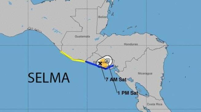 Tormenta Selma se degrada a depresión tropical luego de tocar tierras salvadoreñas
