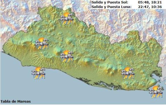 Tormentas eléctricas y chubascos moderados por acercamiento de Onda Tropical en territorio nacional