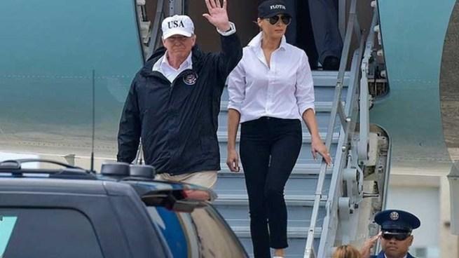 Trump llega a Puerto Rico para evaluar la devastación causada por el huracán María