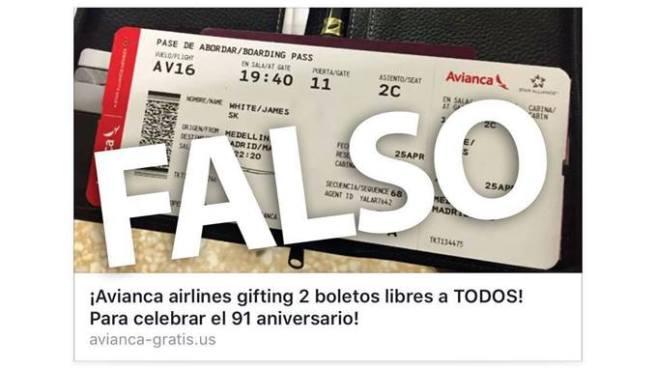 Circula en redes sociales falso concurso de vuelos gratis