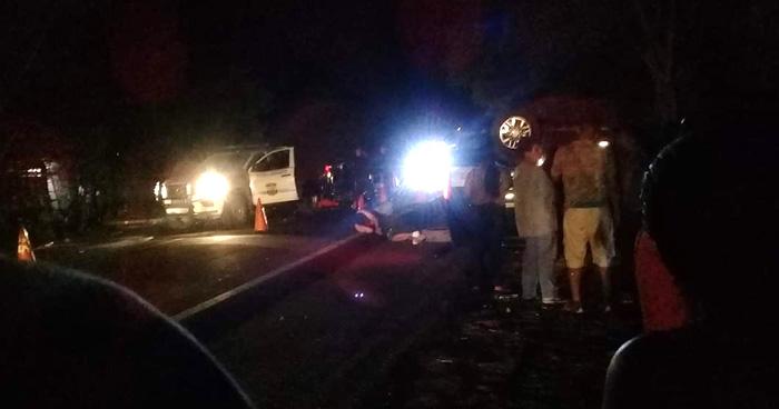 Tres muertos y varios lesionados tras accidente de transito en San Miguel