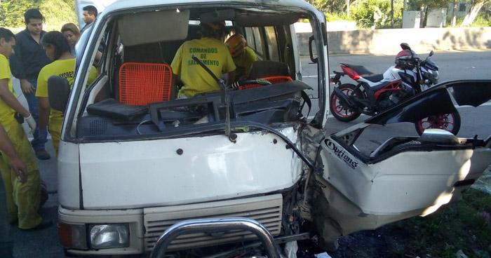 Un lesionado tras fuerte choque en carretera Troncal del Norte