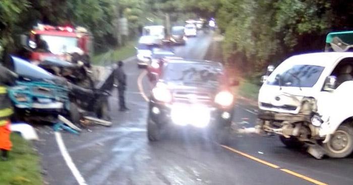 Cinco lesionados tras fuertes accidentes registrados en diferentes puntos del país