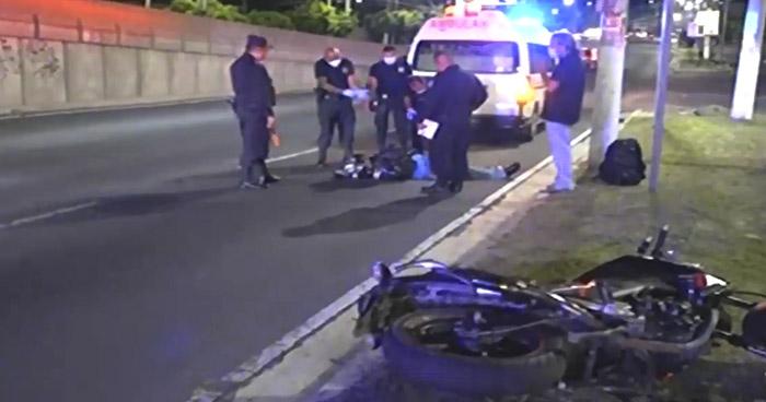Motociclista ebrio se accidenta sobre el Bulevar del Ejército