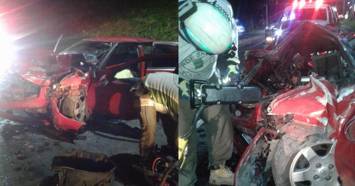 Un fallecido y 3 lesionados tras fuerte choque en Bulevar Sur de Santa Tecla