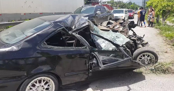 Cinco lesionados tras aparatoso choque provocado por un conductor ebrio en carretera de Oro
