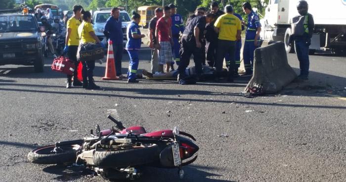 Motociclista muere tras accidente de tránsito en carretera de Santa Ana
