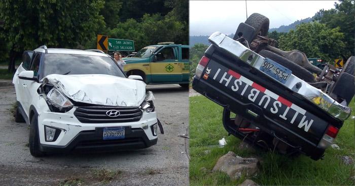 Fuerte accidente en carretera Comalapa deja dos lesionados
