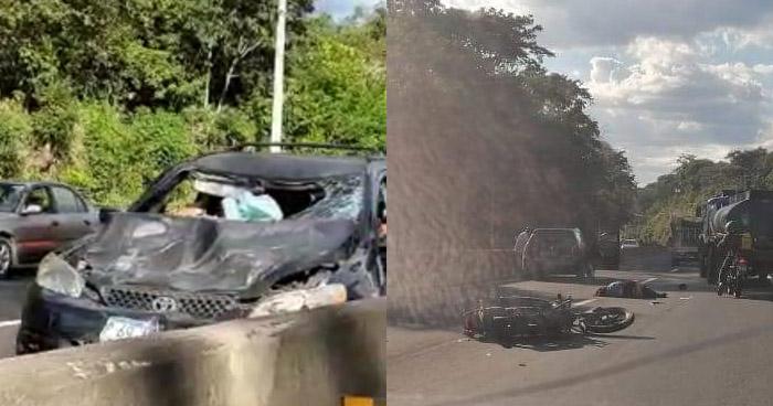Mujer fallecida y otro lesionado tras ser embestidos en carretera de Santa Ana