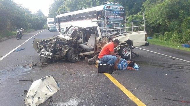 Un lesionado tras accidente de tránsito en carretera Troncal del Norte