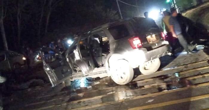 Un menor fallecido y 4 lesionados tras fuerte accidente en Conchagua, La Unión