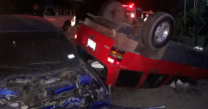 Cinco lesionados tras accidente de tránsito en carretera a San Juan Opico