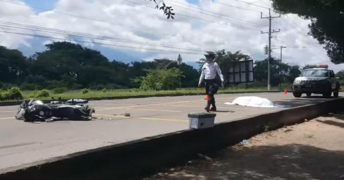 Motociclista fallecido tras accidentarse en carretera de San Miguel